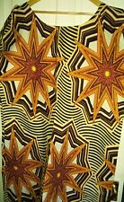 Kente african print Kaftan dress size 24 26 100% cotton
