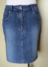 Ladies Womens Blue Stretch Denim Above Knee Mini Skirt Jeans Style Target Size10