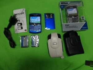 Glossy Blue! BlackBerry Curve 8310 Tracfone Unlocked Accessories Mint Condition