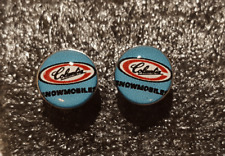 Vintage Snowmobile Logo Earrings-Columbia