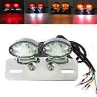 MOTORCYCLE LED TAIL REAR BRAKE INDICATOR MOUNT HOLDER LIGHT NUMBER PLATE LAMP