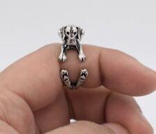 Labrador Dog Pet Silver Adjustable Ring Animal Gift For Her