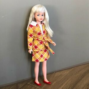Adorable Vtg Skipper Blond, Freckles Clone Doll + Glad Plaids 7250 & JAPAN Shoes
