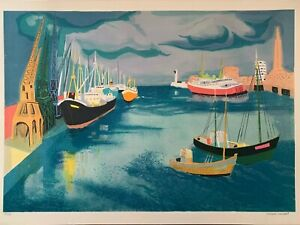 """Georges Lambert """"Le Harve"""" Signed Limited Edition Lithograph on Paper 128/250"""