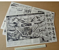 US Military Aircraft Centre-spread 1940 Vintage Homefront Vultee, Bell, Curtis