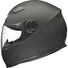Shox Sniper Solid Matt Black Motorcycle Helmet Full Face Scooter Crash Motorbike