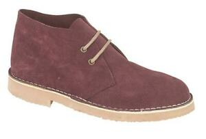 Mens Desert  Boots Chukka Shoes Real Suede Smart Ankle Size Work Comfort Sole