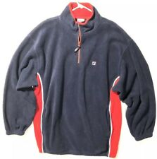 Fila Qt. Zip Fleece Jacket Size XL Rare Awesome Color Block Red White Blue RA001