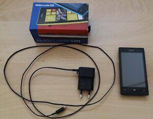 NOKIA LUMIA 520 black mit Originalkarton, ohne Simlock, gebraucht