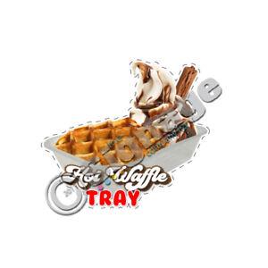 Hot waffle tray ice cream van sticker