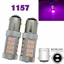 Front Signal 1157 2057 2357 3496 7528 BAY15D P21/5W 92 SMD LED Bulb Purple M1 AR