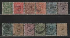 Gb Kgv Perfin Iln Collection of Different Design Faces/All Diff Stamps