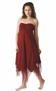 Kleid Rock Hybrid Elfe Ethno Goa Hippie oliv grün bordeaux rot  Urlaub 34 36 38
