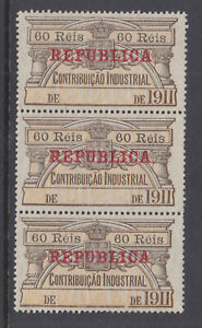 Portugal, Industrial Tax, Barata 476, MNG 1911 60r Contribuicao Industrial strip