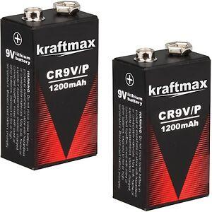2x Rauchmelder 9V Lithium Batterien für Feuermelder / 9v Block Batterie 10 Jahre