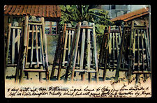 Hong Kong Color Picture P/C Chinese Torture Death Cages 11/21/1908 to Singapore
