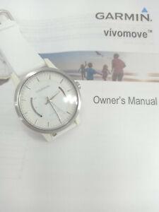 Garmin Vivomove Sport Bluetooth Activity Tracker Watch White Silicone Strap