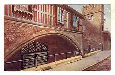 Traitor's Gate Tower of London Art Postcard c1910