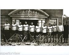 Old Time Hockey Players Hockey Sticks Puck Pads Skates Gloves Ironwood MI 1920