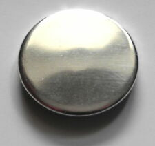 SILVER BADGE - 1 inch / 25mm Button Badge - Mirrored Reflective Cute