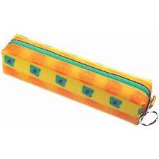 Green Orange Bear Paws Pattern Yellow Pencil Case 3D Lenticular #R-112-GLOBO#