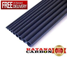 1 x 3k Carbon Fiber Tube OD 12mm x ID 10mm x 1000mm (1 m) (Roll Wrapped) Fibre