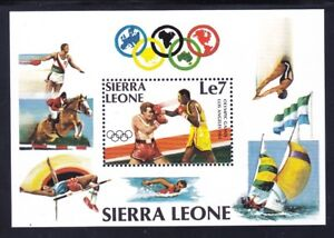 Sierra Leone 617 MNH OG 1984 Summer Olympics Boxing Souvenir Sheet Very Fine