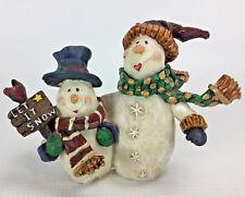 Christmas Snowmen Buddies Resin Figurine Let it Snow Holiday Decor