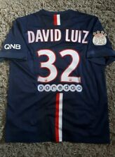DAVID LUIZ PSG Home Shirt 2014 Large MENS Short Football SHIRT JERSEY Arsenal