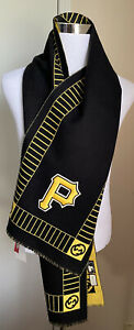 NWT $780 Gucci Men's wool Scarf Black/Yellow Made In Italy
