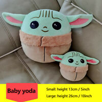 "5""/10"" Baby Yoda Super Elastic Plush Toy Soft Stuffed Pillow Dolls Birthday Gift"