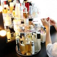 Cosmetic Makeup Organizer Storage Box Shelf 360 Degree Rotating Display Acrylic