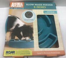 "New listing Animal Planet Slow Maze Feeder, 9"", Blue/Green/Aqua/Teal Free Shipping"