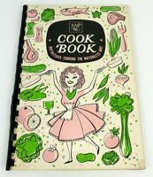 Vintage EHP NUTRITIOUS COOKING THE WATERLESS WAY spiral-bound cookbook