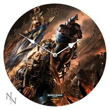 Space Marines ULTRAMARINES 34cm Glass WALL CLOCK Games Workshop Gift 40K