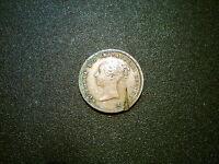 1844 QUEEN VICTORIA BRITISH GB HALF FARTHING COIN