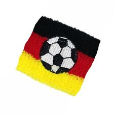 FUSSBALL Fußball Deutschland Ball - Wristband Schweissband Schweißband - Neu