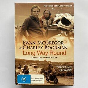 Long Way Round Collectors Edition Box Set 8 Disc Set Ewan McGregor