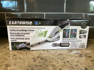 Earthwise Lithium Cordless Garden Shear Hedge Trimmer LSS10163, New!