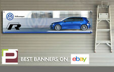 VW Golf R Garage Banner for Workshop, Garage, Volkswagen Motorsport,
