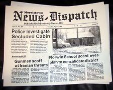 Evil Dead Ash newspaper prop Horror movie Necronomicon original movie