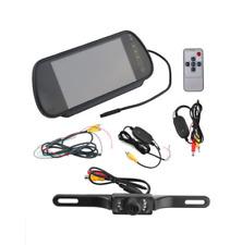 "7"" LCD Mirror Monitor+ 2.4G Wireless Car Reverse Rear View Camera Night Vision"