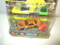 Matchbox Hot Stocks Pit Stop Action Playset 22 car 1991 new free ship