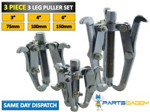 """3 Piece 3 leg Bearing Gear Hub Puller Set Internal External Reversible 3"""" 4"""" 6"""""""