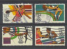 Scott #2048-51 Used Set of 4, Los Angeles Olympics