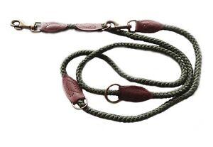 "Nylon Rope Police Training Dog Lead. Adjustable Lengths. 79"" x 0.5"" / 2 m x 12mm"