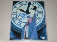 Christopher Lloyd Signed 11x14 Back to the Future Photo Autograph Beckett COA