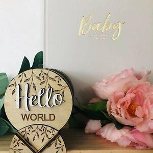 16 Wooden Baby Milestone Cards Discs - Baby Gift - Baby Shower - New Mum Gift
