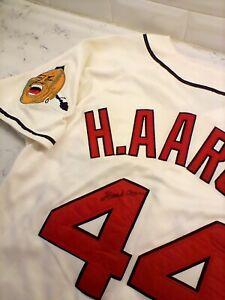 Hank Aaron Autographed Milwaukee Braves Jersey Limited Mitchell & Ness $.99!