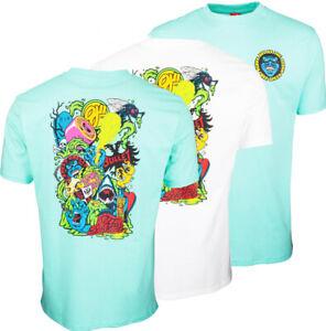 SANTA CRUZ - SW Logo Mash - Skateboard Tee Shirt - White  /  Speed Wheels Shirt